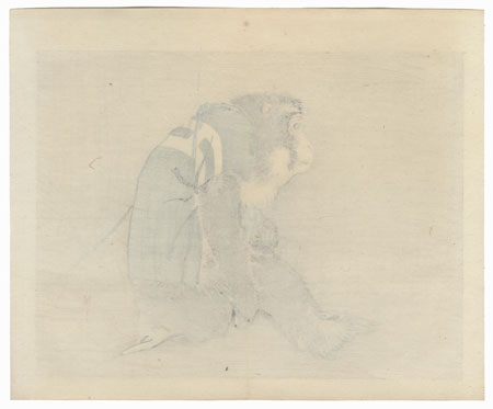 Monkey by Bairei (1844 - 1895)