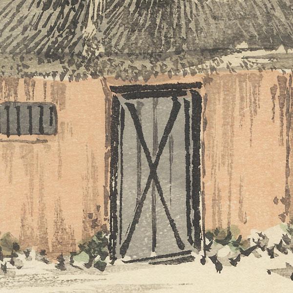 Farmhouse by Bairei (1844 - 1895)