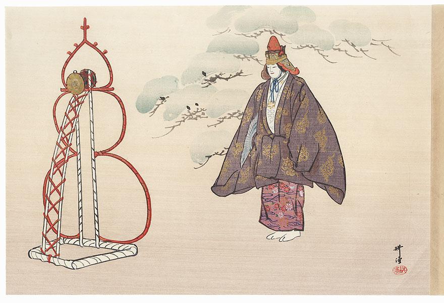 Tsuzumi (The Hand Drum) by Tsukioka Kogyo (1869 - 1927)