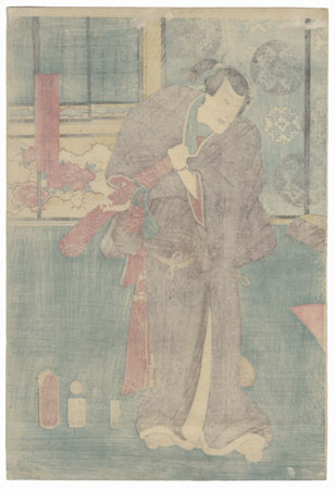 Nakamura Fukusuke I as Hayano Kampei, 1859 by Toyokuni III/Kunisada (1786 - 1864)