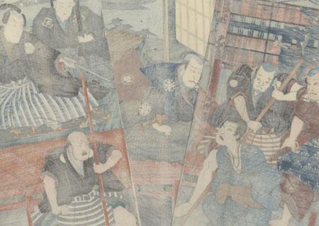 Bound Prisoner, 1852 by Toyokuni III/Kunisada (1786 - 1864)