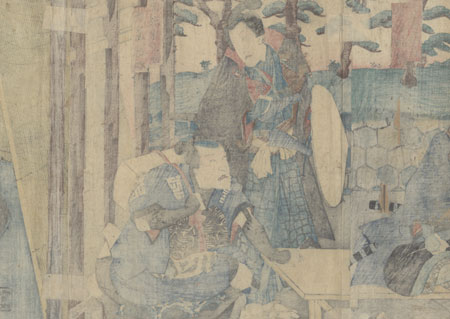 Travelers Stopping at a Teahouse, 1854 by Toyokuni III/Kunisada (1786 - 1864)