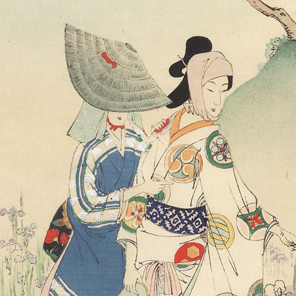 Iris: Women of the Enpo Era (1673 - 1681) by Toshikata (1866 - 1908)
