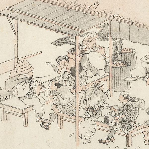 Kuwana by Hokusai (1760 - 1849)
