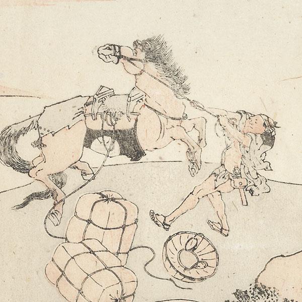 Kameyama and Shono by Hokusai (1760 - 1849)