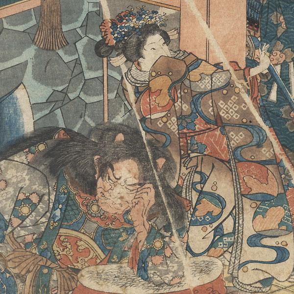 Tsuchiyama: General Tamura and the Demon of the Suzuka Mountains by Kuniyoshi (1797 - 1861)