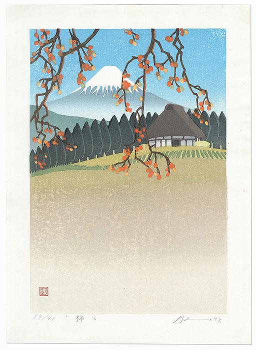 Fuji from Lake Kawaguchiko, 1988 by Satsuki Tsukimi