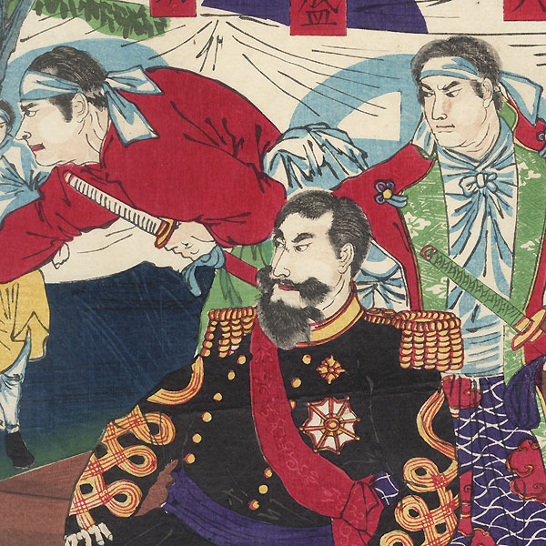 The Satsuma Rebellion by Chikanobu (1838 - 1912)