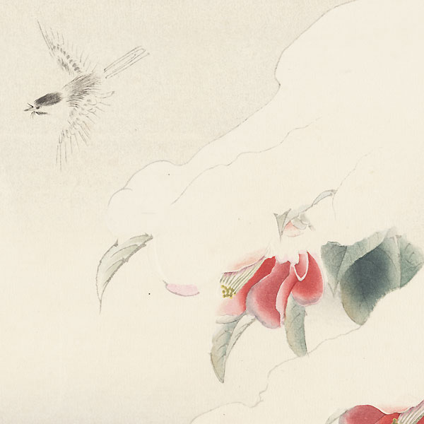 Birds and Blossoms in a Snowstorm, 1960 by Shiho Sakakibara (1887 - 1971)