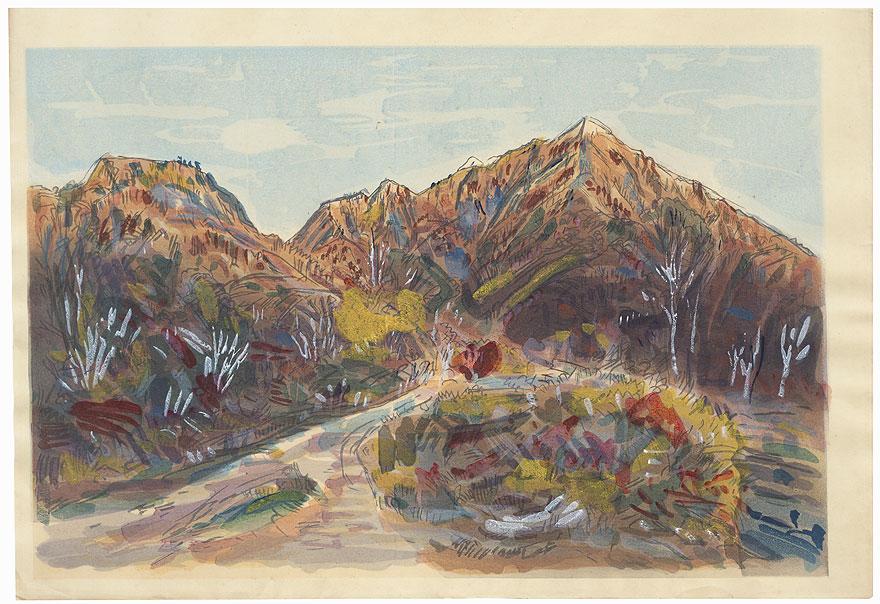 Mountains in Autumn by Kobayashi Wasaku (1888 - 1974)
