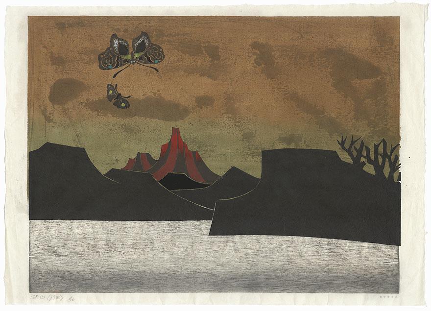Lake Mountain <69E> by Yoshio Kanamori (born 1922)