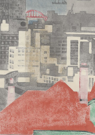 City Skyline by Kawanishi Yuzaburo (1923 - 2014)