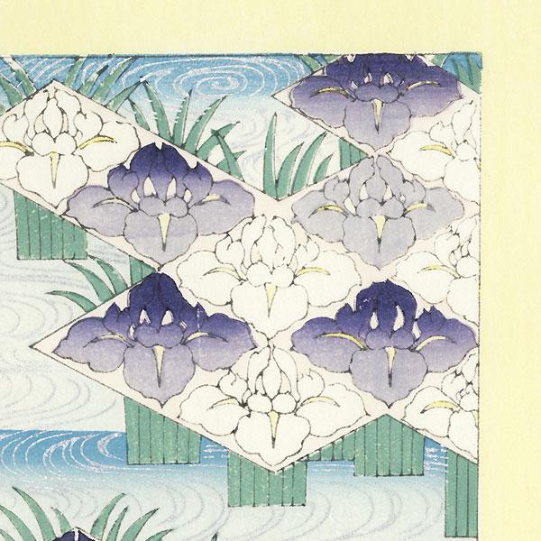 Irises; Hydrangeas by Shin-hanga & Modern artist (unsigned)