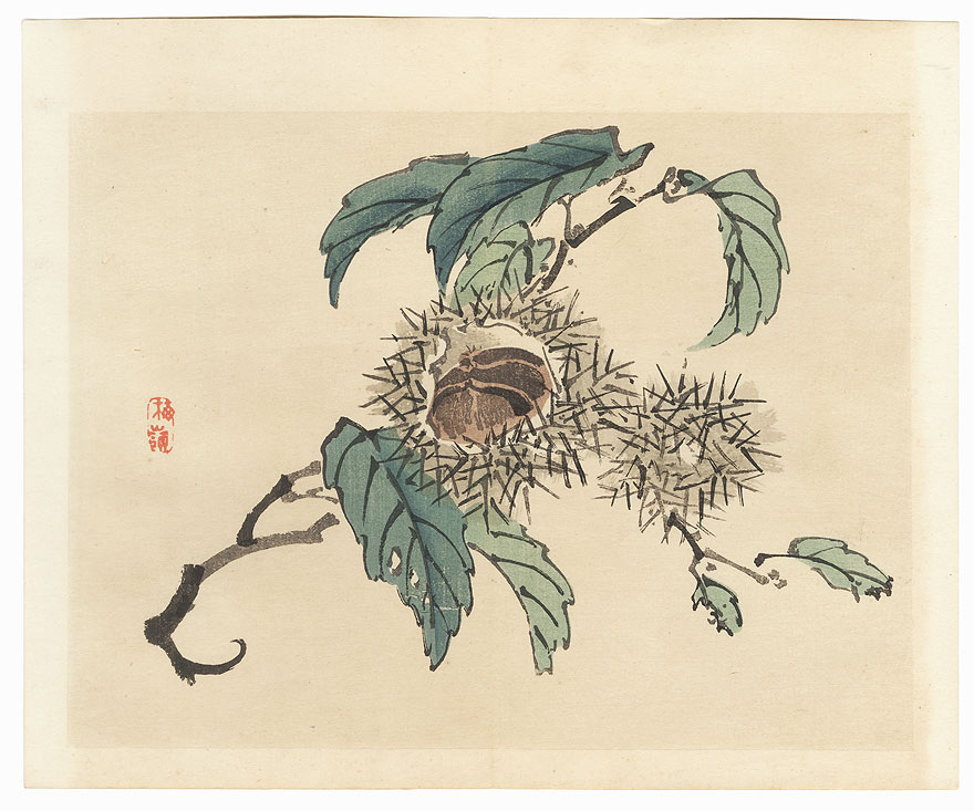 Chestnuts by Bairei (1844 - 1895)