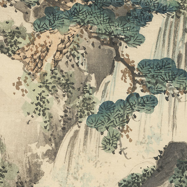 Waterfall and Rapids by Bairei (1844 - 1895)
