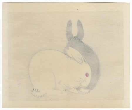 Rabbits by Bairei (1844 - 1895)