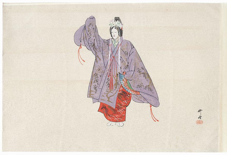 Kakitsubata (The Iris) by Tsukioka Kogyo (1869 - 1927)