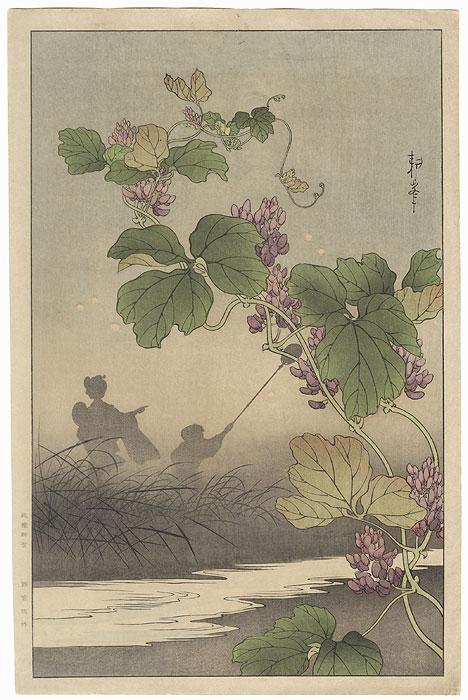 Catching Fireflies by Shin-hanga & Modern artist (not read)