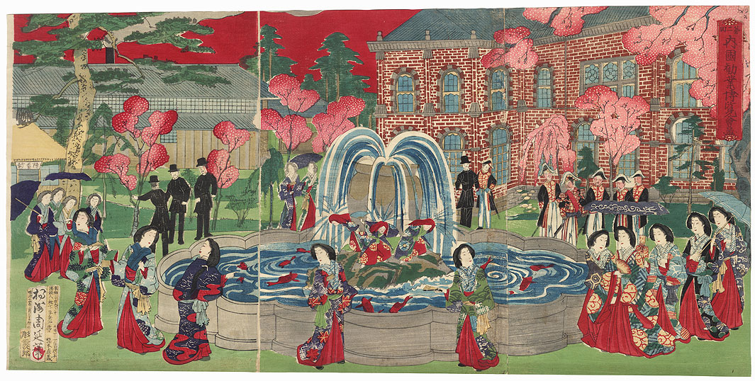 Second National Industrial Exposition, 1881 by Chikanobu (1838 - 1912)