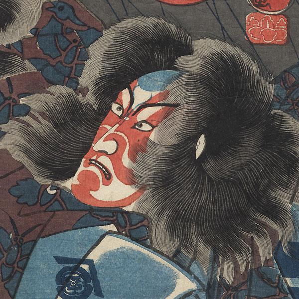 The Soga Brothers, 1847 - 1852 by Kuniyoshi (1797 - 1861)