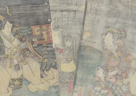 The Fox Lady Kuzunoha, 1852 by Toyokuni III/Kunisada (1786 - 1864)