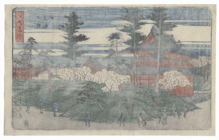Toeizan Temple, Ueno, 1852 by Shigemaru (active circa 1848 - 1853)