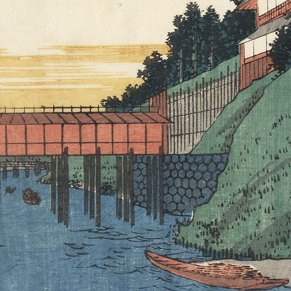 View of Ochanomizu, 1852 by Shigemaru (active circa 1848 - 1853)