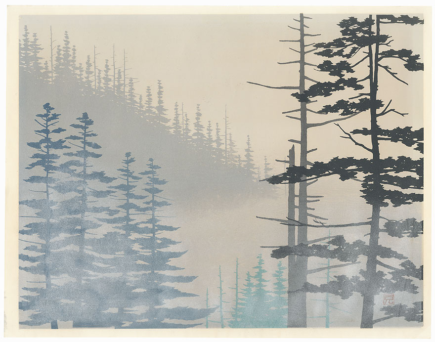 Mist at a Mountain Pass by Katsuro Iwata (born 1942)