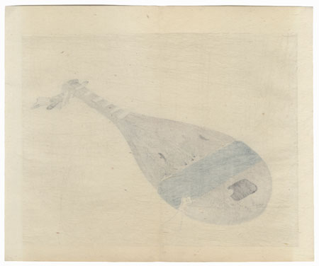 Lute by Bairei (1844 - 1895)