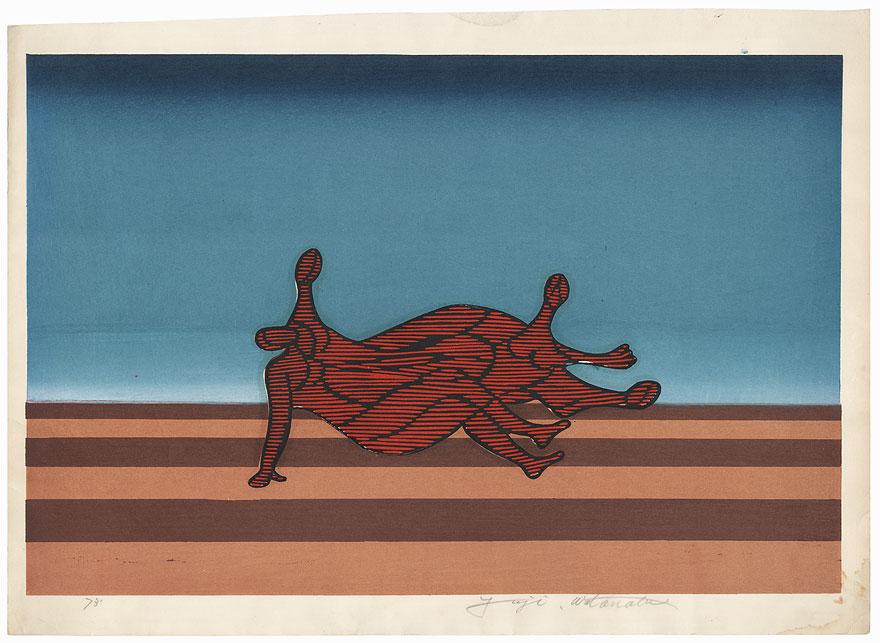 Figures and Horizon, 1973 by Yuji Watanabe (born 1941)