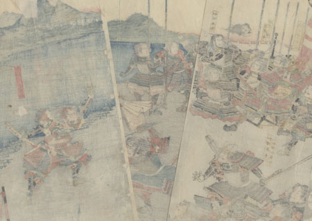 Ando Kiemon Entering the Enemy's Camp, 1848 by Yoshikazu (active circa 1850 - 1870)