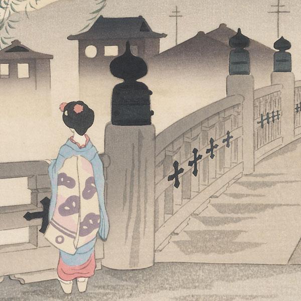 Sanjo Bridge by Tokuriki (1902 - 1999)