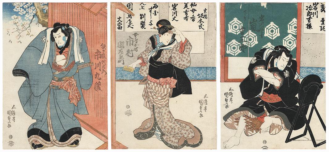 Sumo Wrestler Inagawa Jirokichi, 1839 by Toyokuni III/Kunisada (1786 - 1864)
