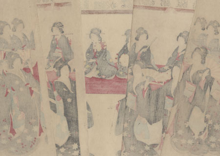 Beauties Dancing, 1899 by Meiji era artist (unsigned)