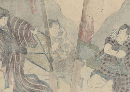 Commoners Arguing, 1847 - 1852 by Toyokuni III/Kunisada (1786 - 1864)
