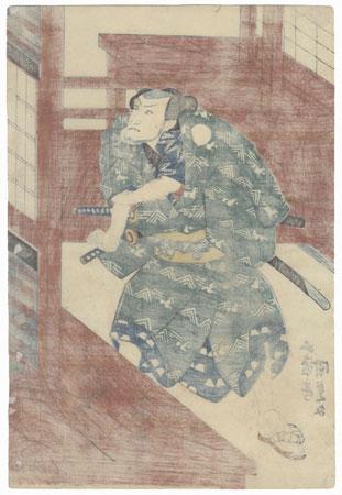 Seki Sanjuro as Teraoka Heiemon, 1837 by Toyokuni III/Kunisada (1786 - 1864)
