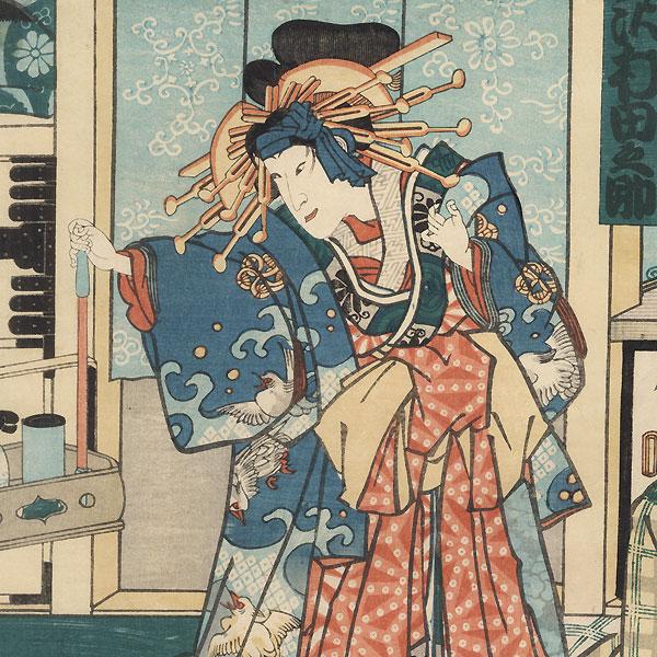 Fujiya Izaemon and the Courtesan Yugiri, 1863 by Kunichika (1835 - 1900)