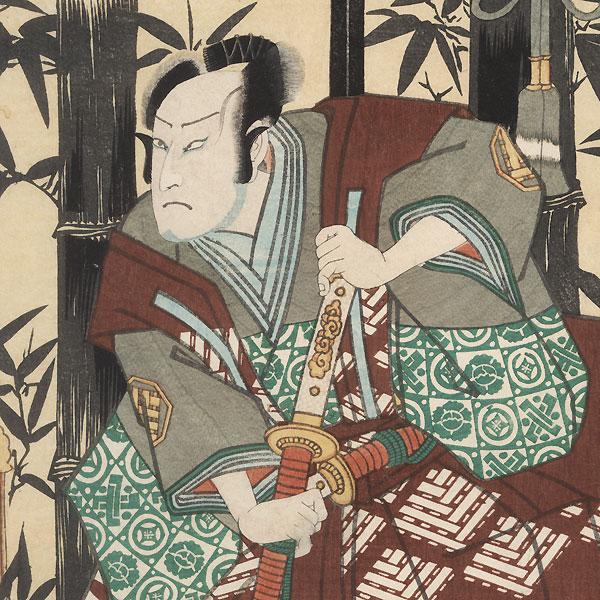Beauty and Worried Nobleman, 1861 by Toyokuni III/Kunisada (1786 - 1864)