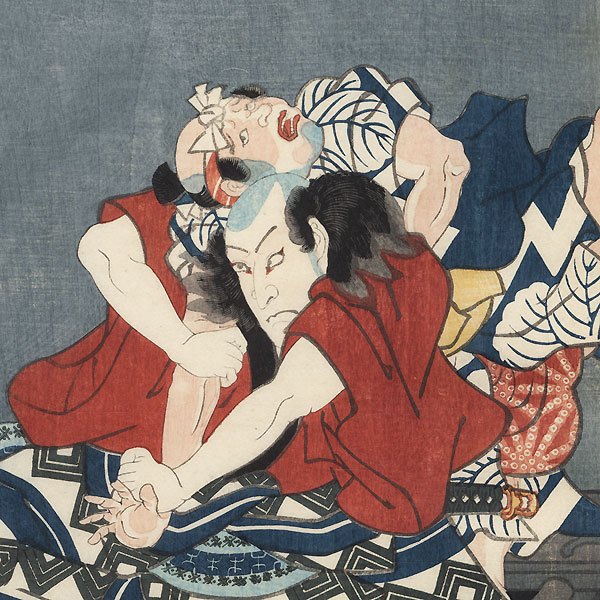 Scene from Natsu Matsuri, 1855 by Toyokuni III/Kunisada (1786 - 1864)