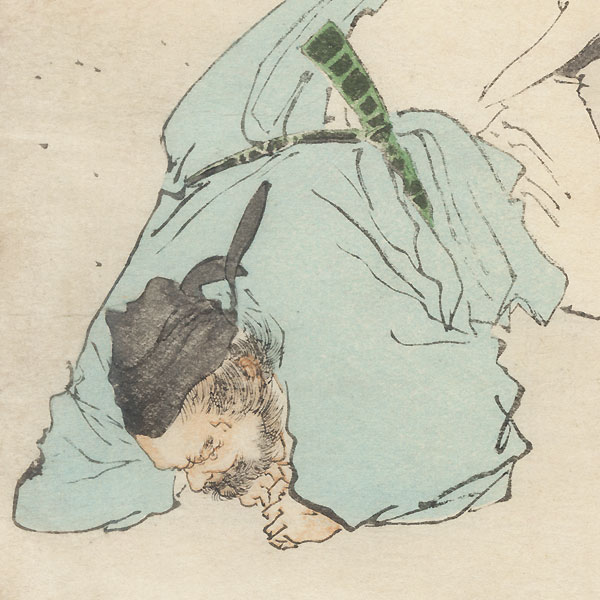 The Beginning of Sumo Kuchi-e Print, 1909 by Meiji era artist (not read)