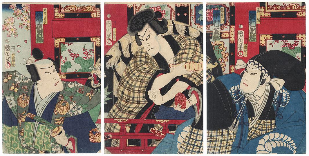 Robber at a Shrine, 1870 by Kunichika (1835 - 1900)