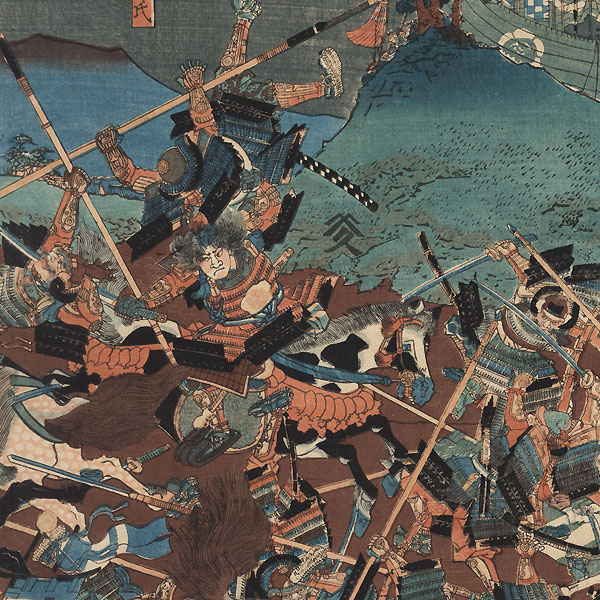 A Battle from the Taiheiki, 1847 - 1852 by Sadahide (1807 - 1873)