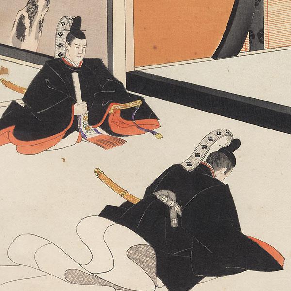 The Shogun Making an Imperial Proclamation by Chikanobu (1838 - 1912)