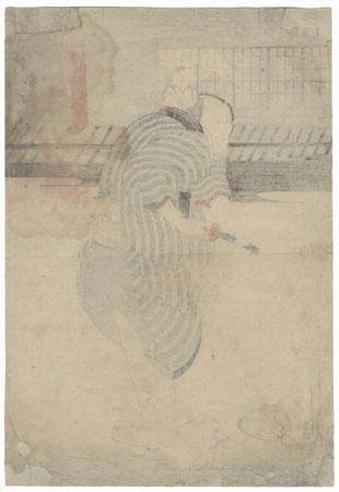 Seki Sanjuro III as Genbei in Tsumagasane Ume no Yoshibei, 1848 by Kuniyoshi (1797 - 1861)