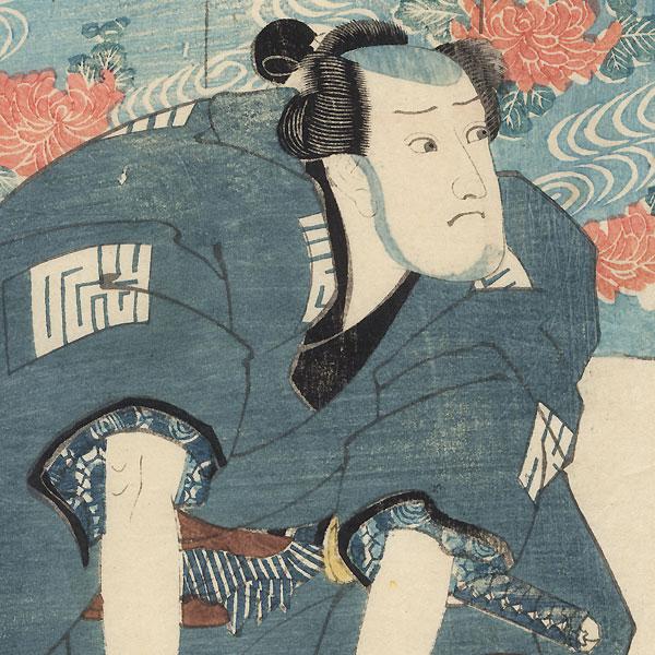 Kneeling Warrior by Kuniyoshi (1797 - 1861)