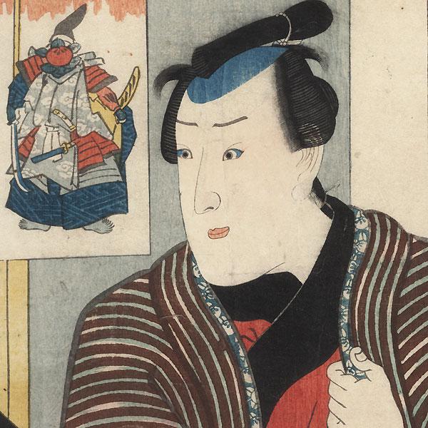 Ichimura Uzaemon XII as Kambara Sashichi, 1849 by Kuniyoshi (1797 - 1861)