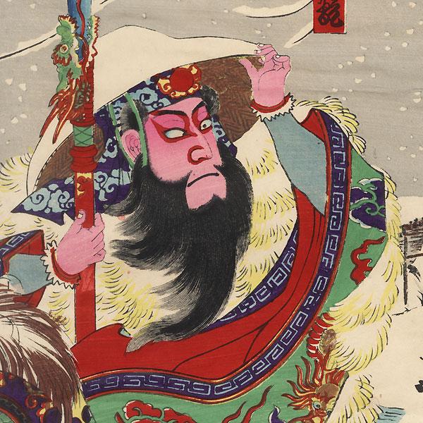 Scene from the Romance of the Three Kingdoms by Kunisada III (1848 - 1920)