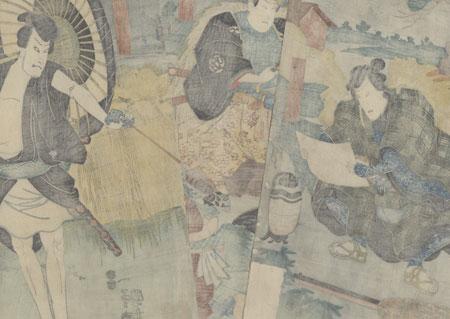 The 47 Ronin, Act 5: The Yamazaki Highway, 1854 by Kuniyoshi (1797 - 1861)