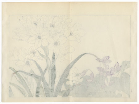 Scilla and Violet by Tanigami Konan (1879 - 1928)