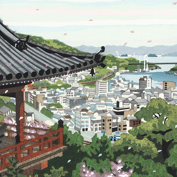 Spring at Senkoji Temple, 2010 by Masao Ido (1945 - 2016)